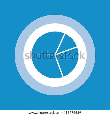Pie Chart Icon . Vector illustration - stock vector