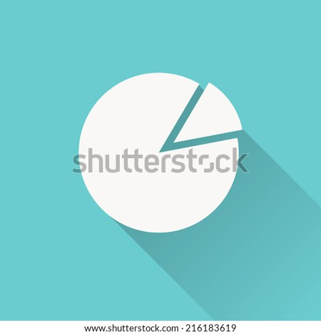 pie chart icon , vector illustration , flat design - stock vector