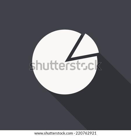 pie chart icon , vector illustration , flat design - stock vector