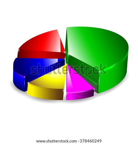 Pie Chart / Pie Graph Vector 3D