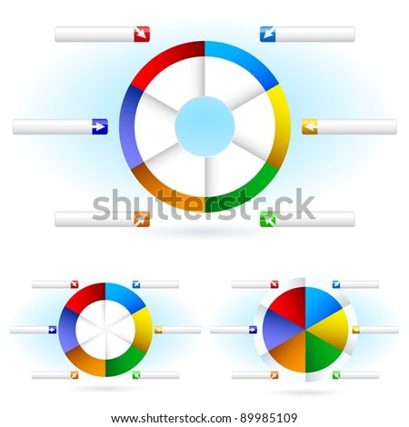Pie charts. Illustration for design on white background - stock vector