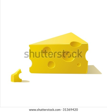 piece of cheese - stock vector