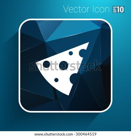 piece of cheese vector template icon logo. - stock vector