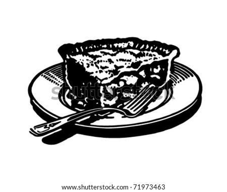 Piece Of Pie 2 - Retro Ad Art Illustration - stock vector