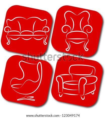 pieces of furniture for business, chair, sofa