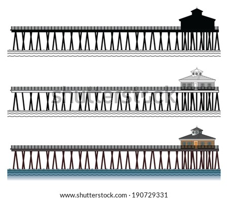 Beach Pier Drawing Pier is an Illustration of a