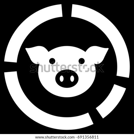 Pig Diagram Vector Icon Flat White Stock Photo Photo Vector