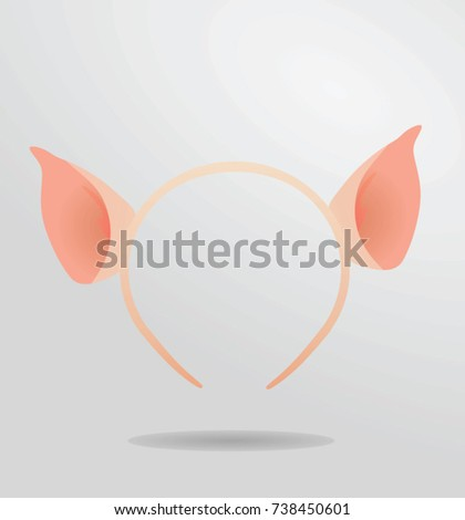 Pig ears mask vector illustration stock vector 738450601 pig ears mask vector illustration pronofoot35fo Images