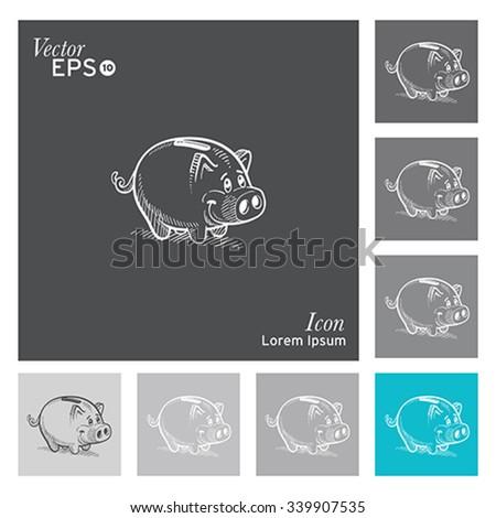 Pig icon -vector, illustration. - stock vector