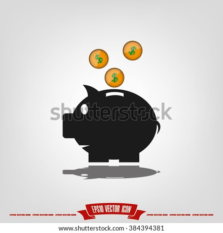 pig piggy bank icon, pig piggy bank icon eps10, pig piggy bank icon vector, pig piggy bank icon eps, pig piggy bank icon flat, pig piggy bank icon AI, pig piggy bank icon drawing - stock vector - stock vector