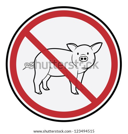 Pig Sign - stock vector