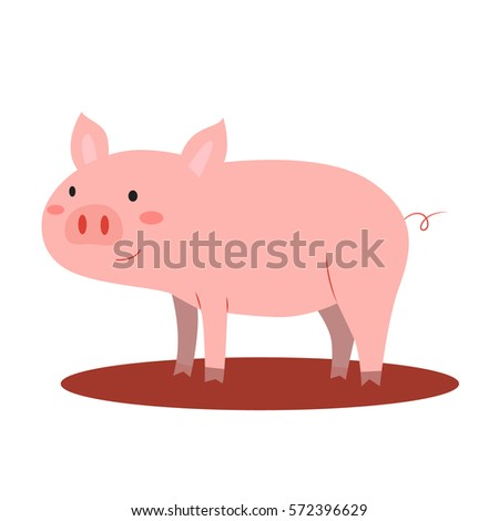 pig vector illustration in isolated white background