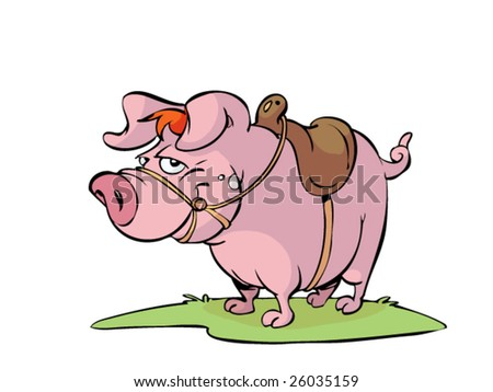 pig with saddle