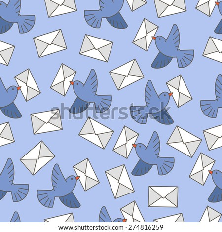 Pigeons with a letter pattern. contour color images