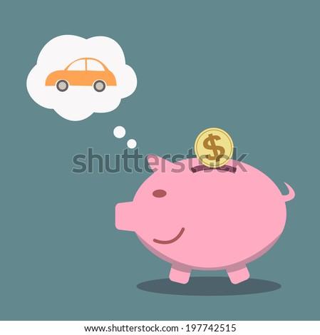 piggy bank concept saving for the future - stock vector