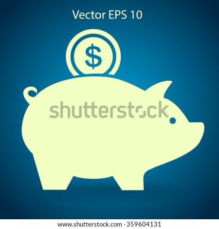 piggy bank for the money vector illustration - stock vector