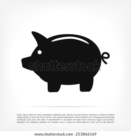 Piggy bank icon - stock vector