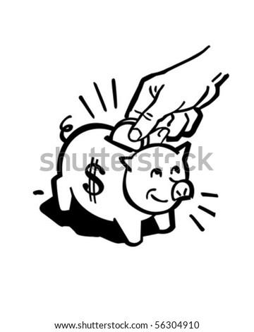 stock vector piggy bank retro clip art 56304910 nickel coin stock vectors, images & vector art shutterstock,A Penny In Fuse Box