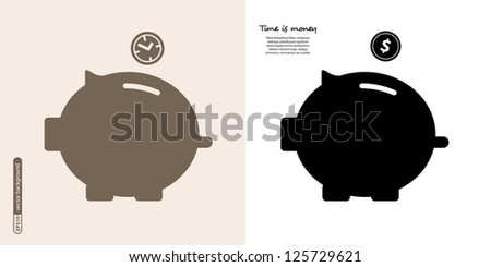 Piggy bank - saving money. Vector. - stock vector