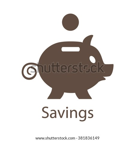 Piggy Bank Savings Icon. Piggy Bank Savings Icon Vector. Piggy Bank Savings Icon EPS.