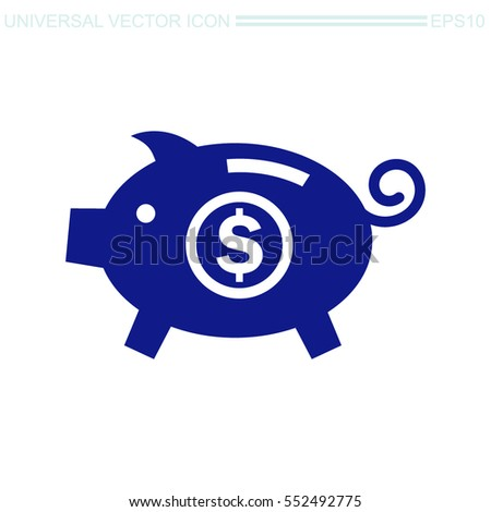 Piggy bank vector icon. Moneybox sign.