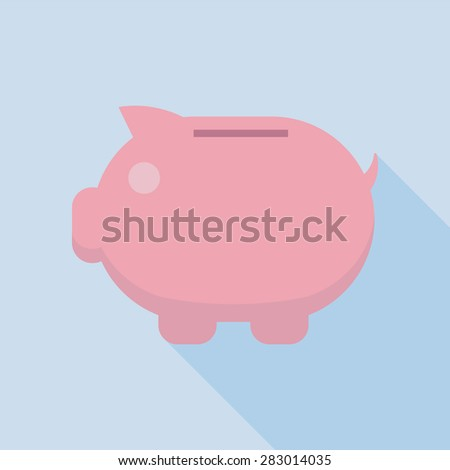 Piggy bank vector icon Piggy bank vector icon, EPS10  - stock vector
