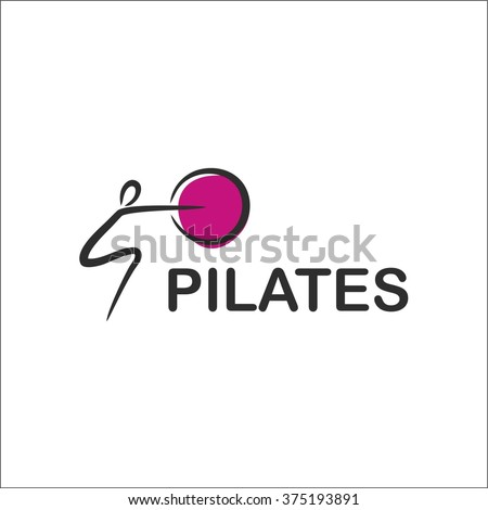 Pilates - stock vector