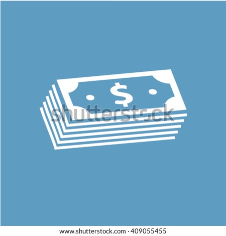 pile of cash icon  - stock vector