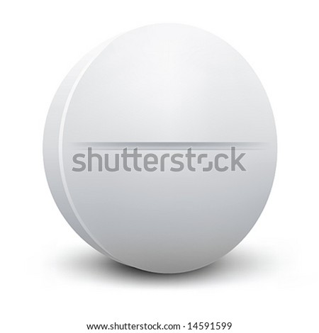 Pill vector - stock vector