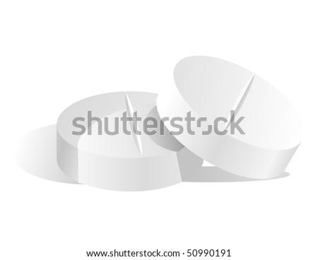 Pill vector 3D - stock vector