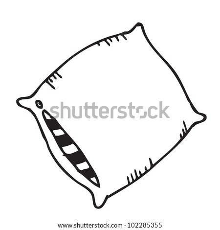 Pillow cartoon doodle