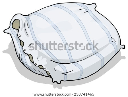 pillow, vector illustration, isolated on white - stock vector