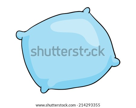 pillow, vector illustration on white background - stock vector