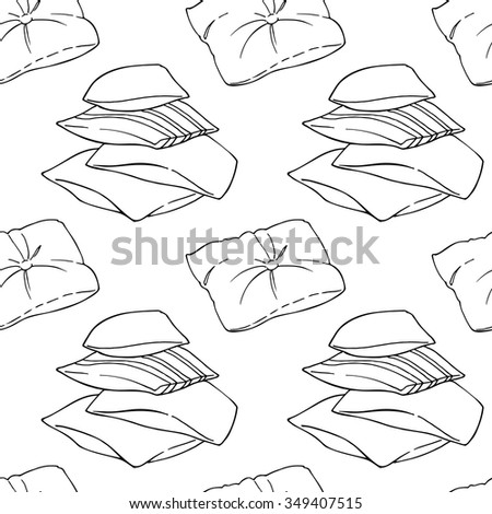 Pillows seamless pattern. - stock vector