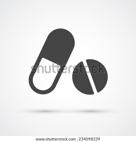 Pills and supplement icon. Medicine and Science Vector - stock vector