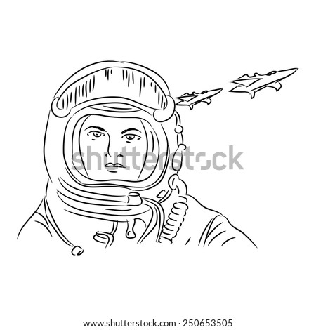 Pilot aircraft. Vector illustration of the armed forces. Greeting card - stock vector