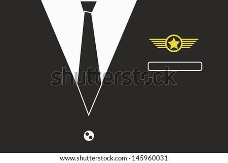 pilot suit - stock vector