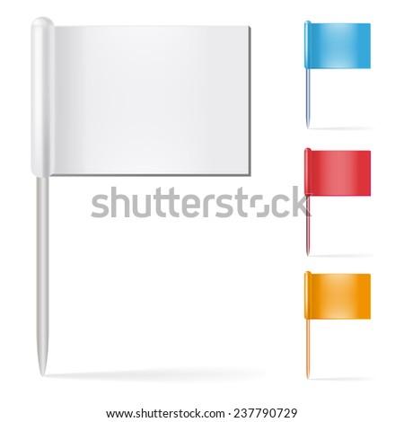 Pin flags - stock vector