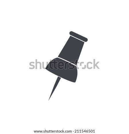 pin icon - stock vector