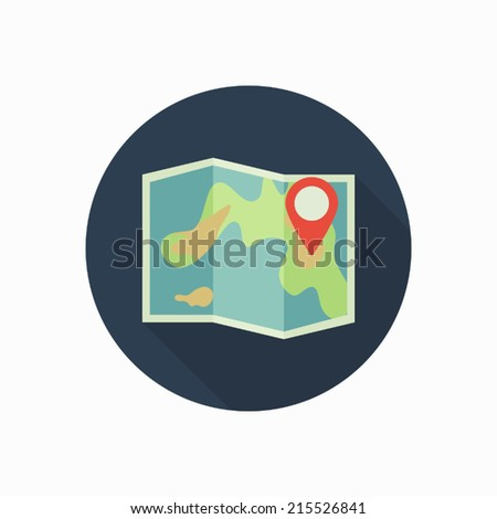 pin map icon illustration - stock vector