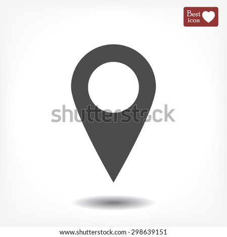 Pin on the map icon. Vector - stock vector