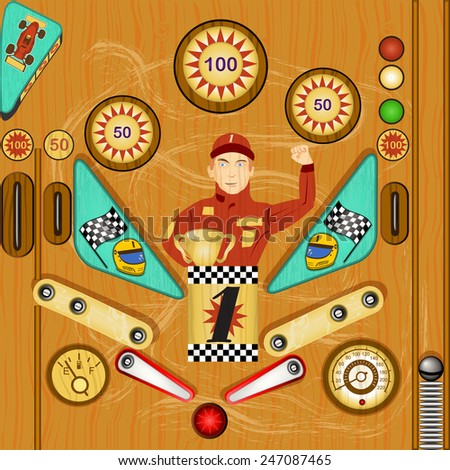 pinball  icon, detailed vector illustration - stock vector
