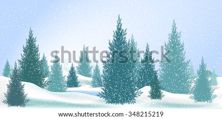 pine tree,Christmas Tree Pine Isolated on White snow,Branch of Christmas tree with pine cones,pine tree,Pine branch isolated on white,Winter landscape with fir trees and falling snow - stock vector