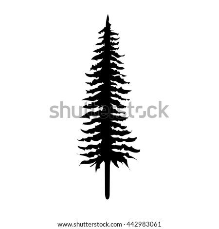 pine tree vector stock vector 442983061 shutterstock rh shutterstock com vector pine trees silhouettes free vector pine tree silhouettes