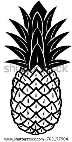 pineapple clipart black and white. pineapple icon in black and white. clipart white