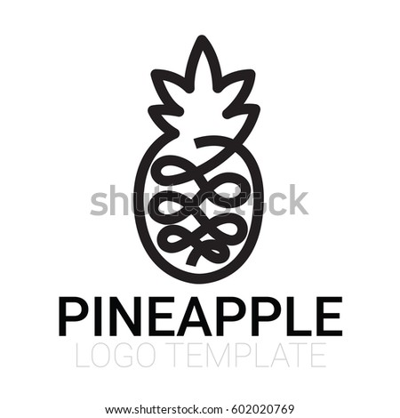 pineapple icon isolated - modern flat pictogram - trendy simple vector symbol logo illustration