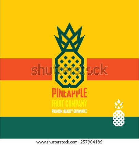 Pineapple icon. Pineapple vector label. - stock vector