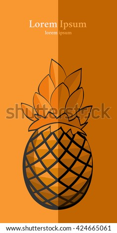 Pineapple on paper