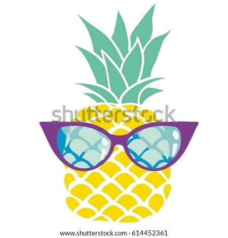 pineapple with sunglasses clipart. pineapple with glasses - vector, illustration sunglasses clipart f