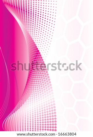 Pink Abstract background, vector illustration layers file. - stock vector